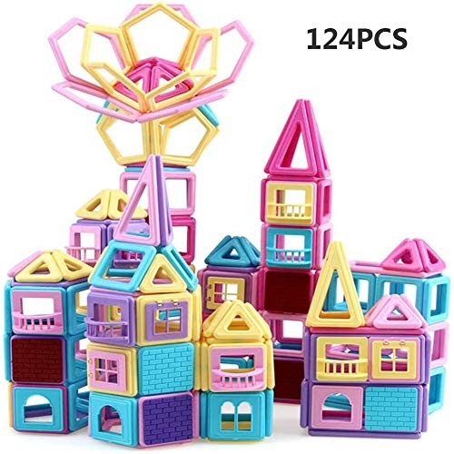 YAOLAN Kid Building Blocks DIY Toys 124 pcs Developing Early IQ for KidsLearning Construction Assembly Toy SetPreschool Perfect Home Schools