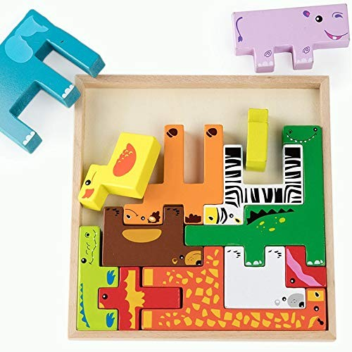 LZW Creative Children's Building Blocks Wooden Toys Early Childhood Intelligence Development Suitable for Children 0-5 Years Old