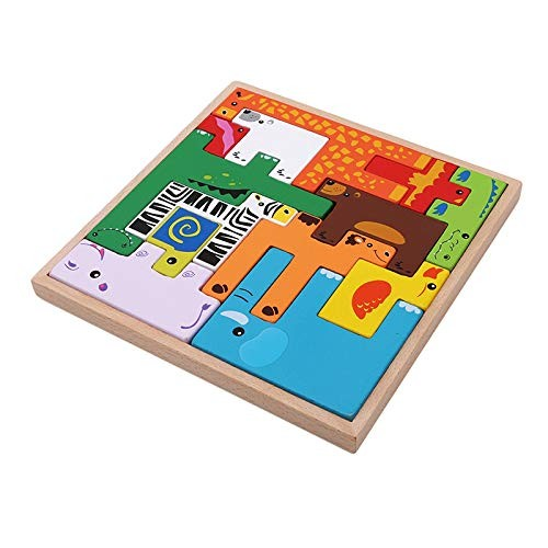 LZW Early Childhood Intellectual Enlightenment Toys Creative Toddler Building Blocks Wooden Suitable for Children Aged 0-5