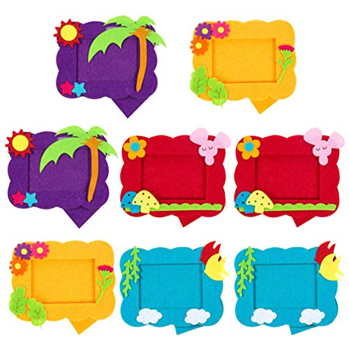 8Pcs Photo Frame Craft Kit DIY Picture Nonwoven Felt Toys for Sewing Handcraft Kid