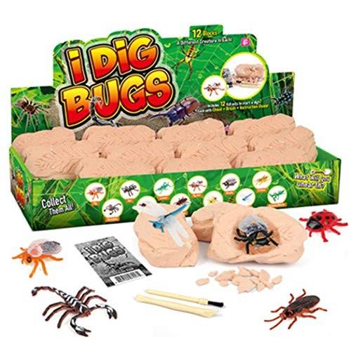 FunPa Dino Egg Dig Kit DIY Educational Artificial Dinosaur Toy Digging for Kids