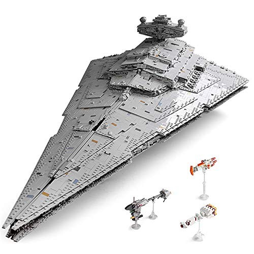 QJxF Interstellar Star Destroyer Building Blocks Children's Small Particles Puzzle Assembled Creative Education Spelling Simulation Model Block Toys for Boys and Girls