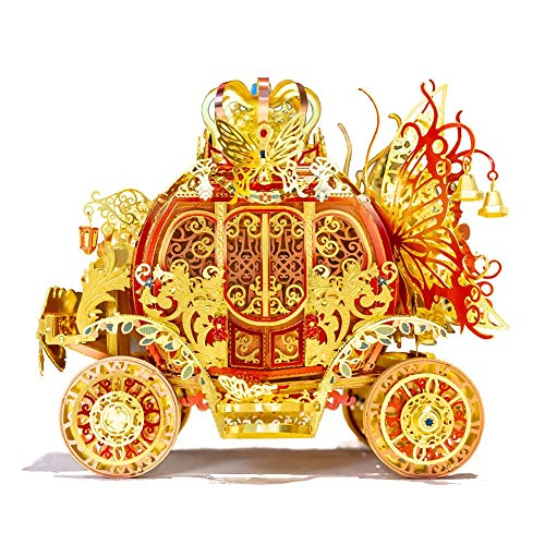 3D Carriage Model DIY Metal Assembly Puzzle Craft Kit Exquisite DesignHome Decoration Desk Ornaments Educational for Adults Kids Present