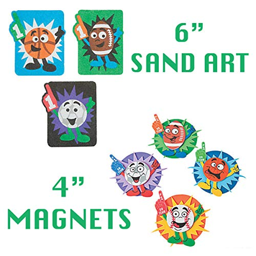 Mr E=mc2 Crafts Kits for Kids 7 DIY Arts and Projects – Sports Theme Bundle Homeschool Supplies Party Favors Learning Resources Activities Toys Novelty Items