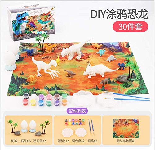 Zdada DIY Kids Painting Art and Craft for Dinosaurs Paint KitEaster Kids-Crafts-Art Age 3 to 8Dinosaurs Toddlers Set