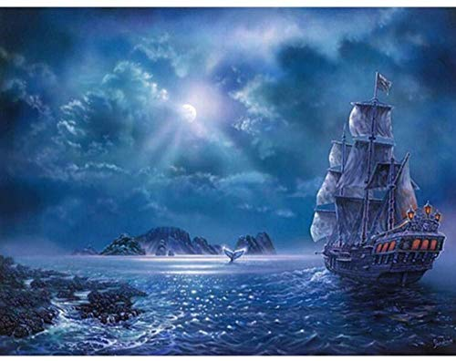 DHTJ Jigsaw Puzzle 1000 Piece Ship DIY Wall Decor Landscape Crafts Gifts Classic 3D Kit Wooden Toy Unique Gift Home