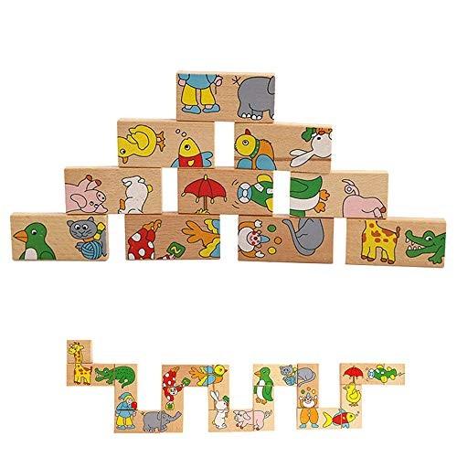 Wooden Dominoes 56 Pieces Animals