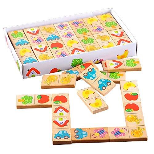 Wooden Dominoes 56 Pieces Fruit