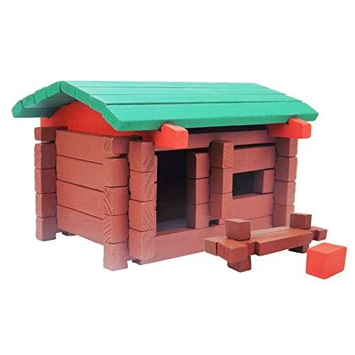 Building Blocks Set 32 Pieces Wood Castle