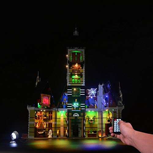 RAVPump Light Set for Haunted House – LED Lights Kit Lighting Compatible with Lego 10273 not Included