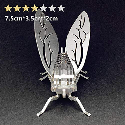 Puzzles xMYY 3D Mechanical Pendulum Toy Building SetFamily Craft KIT Supplies-Best Birthday Gifts for Kids Adults to Build Toys Boys and Girls Summer cicada
