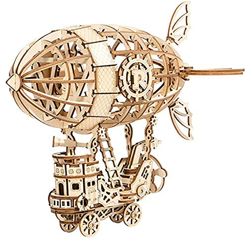 3D Wooden Puzzle Assembly Craft KitsBuild Your Own Wood Kit Airship Model Gifts for Kids and Adults