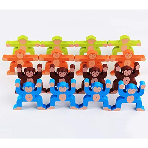 Building Blocks Games Children's Educational Toys Wooden Monkey Balance Baby Hand-Eye Coordination Ability