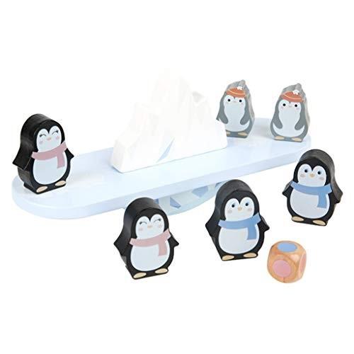 YONGMEI Penguin Balance Beam Building Block Toy Wooden Puzzle Children's Cognitive Pile Stacking Blocks Balancing Games