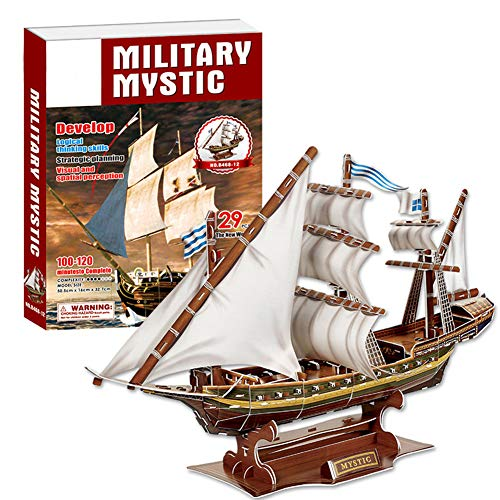 YINUODAY 3D Puzzles Model Kits for Adults Kids Wooden Puzzle Ship Decoration DIY Assemble Toy Wood Craft Construction Children