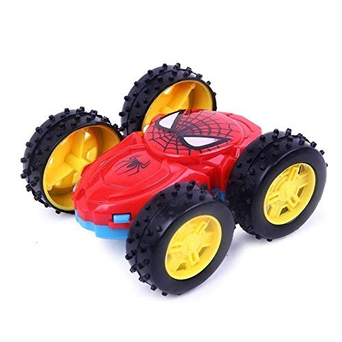 MOOMKEY 1pc Inertial Double-Sided Dump Truck Resistant 360 Degrees Flip Toy Car Birthday Gifts