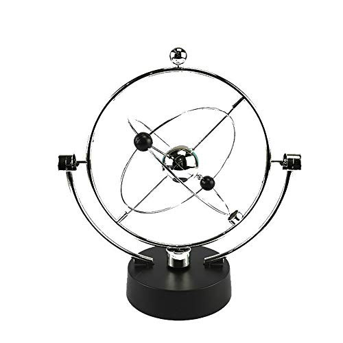ZHCSS Rotation Perpetual Motion Swing Celestial Globe Newton Pendulum Model Kinetic Orbital Revolving Gadget Home Decor Craft Ornament Spherical Desk ToySilver