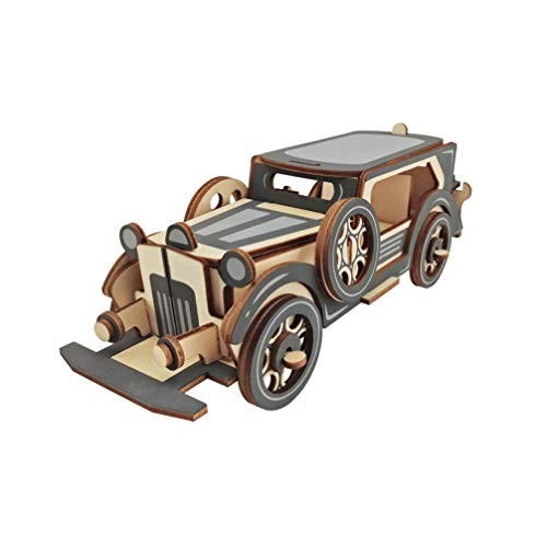 ExCEART 3D Wooden Puzzle Ford Car Model Building Blocks Brain Teaser Puzzles Jigsaw Pieces Toys Early Educational Toy for DIY Woodcraft Birthday Gift