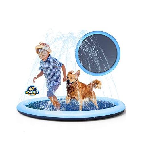 Non-slip Splash Pad Sprinkler for Kids Toddlers Baby Pool Adults Outdoor Games Water Mat