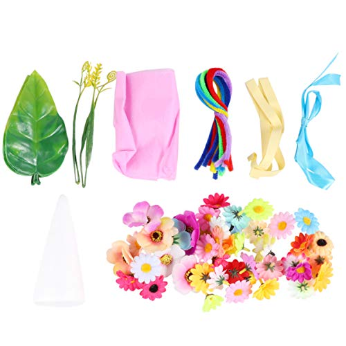 Toyvian Kids Flower Craft Kit Button Arts and Crafts Bouquet Teachers Day Gift