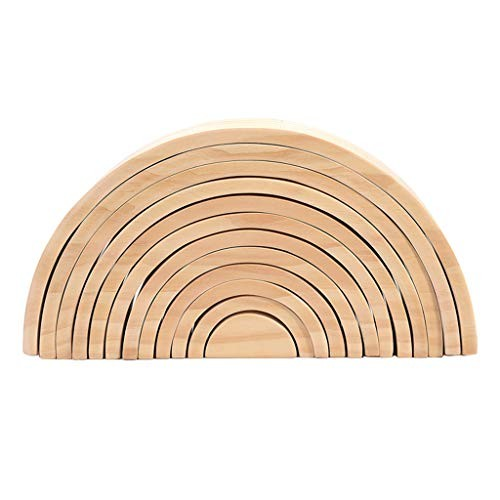 LoveinDIY Wooden Building Tunnel Block Toys Shape Matching Puzzle Development Toy