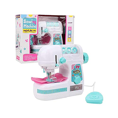 FING Kids Sewing Machine Kit DIY Toys Educational Interesting Toy for Craft Small Manual Household Travel Children Beginner