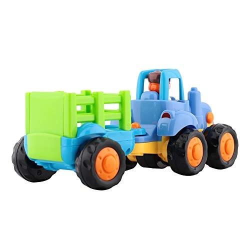 MOOMKEY Kids New Cars Toys Plastic Children Mini Engineering Car Model Inertia Dump Truck Tractor Vehicles