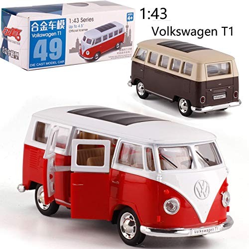 MOOMKEY CAIPO 1:38 Volkswagen Bus T1 Alloy Pull-Back Vehicle Model Diecast Metal Model Car