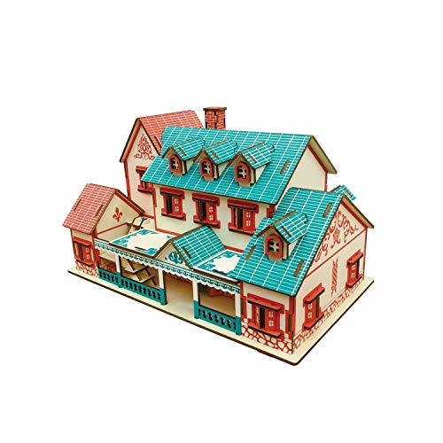 3D Jigsaw Moveable PuzzleArchitecture Blocks ToyWooden Puzzles Model Kit Craft Assembling Toy Set DIY Gift Table Decoration Home Decors for Kids and Adults004