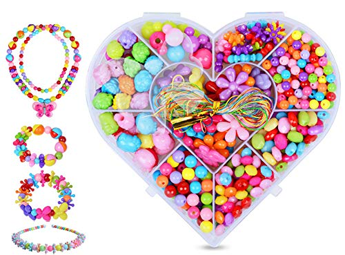 AESTHING Pop Beads Kids Jewelry Making Kit Acrylic Craft for Girls with a Box Best Birthday Children's Day 350 PCS B