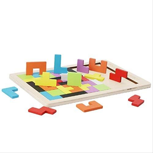 xWZJ Wooden Puzzle Wood Building Block Game Scrabble Children's Teach Toys