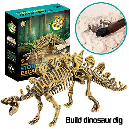 xisheep??Shipped from the United State Dinosaur Toys Science Educational Dig Kit Fossil Excavation Kits