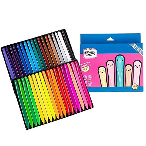 Crayon Color Pen Paint 36 Washable Non-Toxic Safe Easy-to-Drop Feeding Type crepas for Coloring Children's Admission Children 36