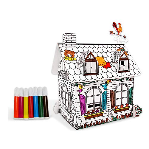 JMFHCD 3D Puzzle Paper House Building Craft Kit for Kids and Adults Birthday Gift Party Favor Origami Enthusiasts