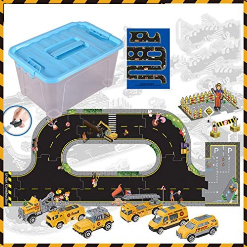 LTLWL Construction Vehicles Toys with Play Mat to Experience The Car's Function and Traffic