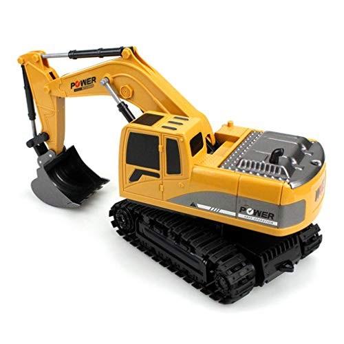 24g 6ch Multifunction 270 Degree Rotation Plastic Remote Control Excavator Simulation Engineering Rc Car 3km h