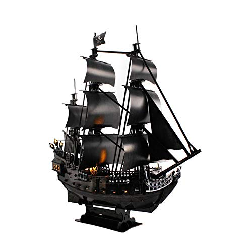 3D Puzzles Pirate Ship for Adults Sailboat Model Building Kits Craft Christmas Party Home Decoration Assembly Gifts Color Multi-Colored Size 250x677x643 mm
