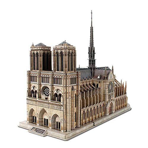 HDKD 3D Brain Teaser Puzzles Cathedral Architecture Building Model Craft Kits for Adults Kids Color Natural Size 586x220x440 mm