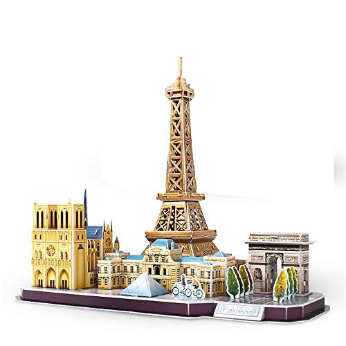 3D Brain Teaser Puzzles Cathedral Architecture Building Model Craft Kits Christmas Party Home Decoration Assembly Gifts Color Multi-Colored Size 381x254x327 mm