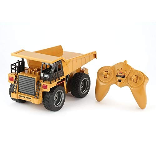 YSYDE Remote Control Dump Truck 1 18 24G 6CH Alloy Version 360 Rotation Construction Engineering Vehicle Toy Gift
