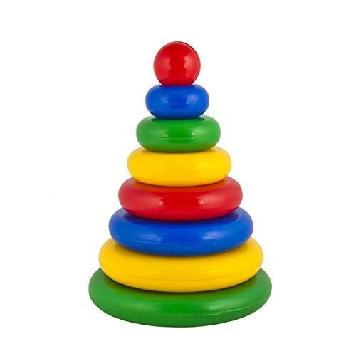 Desyatoye korolevstvo Ring Stacker Rainbow Stacking Rings Toy 6767106-inch Baby