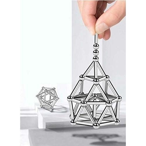 Victoat 90 Sticks 58 Balls Metal Magnets Cube Magic Building Blocks Children Education