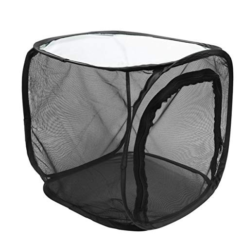 Toyvian 1pcs Black Foldable Insect Proof Net Nature Exploration Toy Insect Box Insect Cage