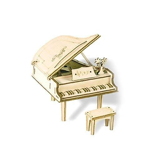3D Wooden Assembly Puzzle Wood Craft Kit Handmade Assemble Piano Desktop Decoration Creative Model Toy for Kids Adult