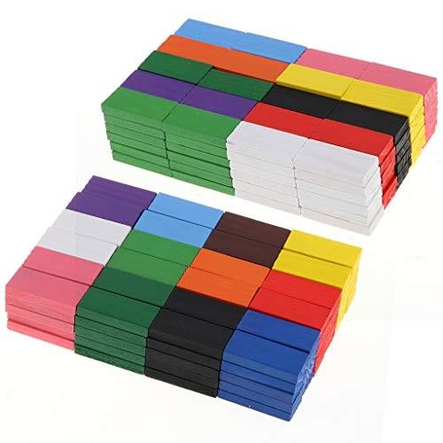 Injoyo 240pcs Fun Wooden Dominos Block Set Building Toy Domino