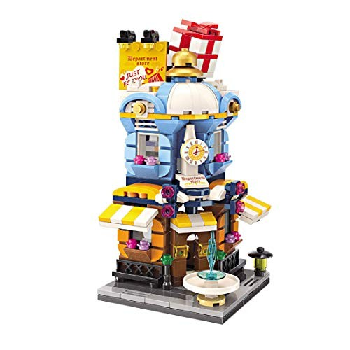 Goshfun Enlighten 389Pcs Colorful Street View Series Building Block Model Toy Set MOC Small Particle Brick DIY Assembly Stem Educational Gift Department Store
