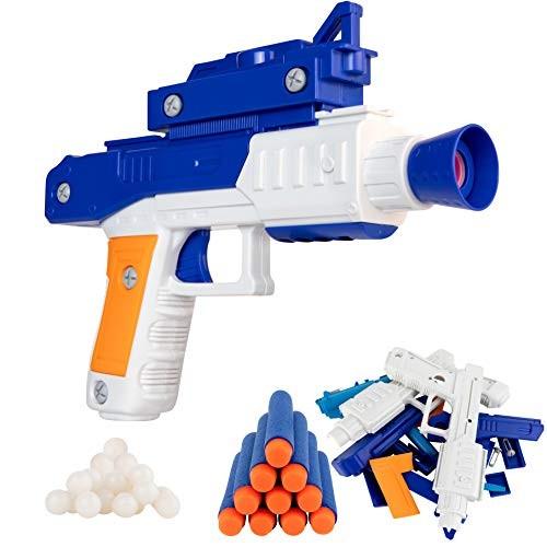 Zetz Brands Take Apart Dart and Ball Blaster – Boys Toy Shooter Gun Construction