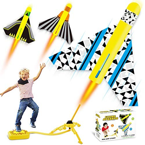 HOMOFY Rocket Launcher Toys for Kids 4-12 Year Old Step Rocket Toy with Adjustable