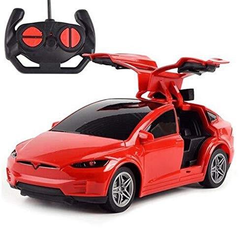 ZH 24G Drift Open Door Toys for Kids Girls Tesla Electric Toy Car Children
