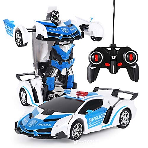 SAMTITY RC Cars Robot for Kids Racing Sports Cars Drive Deformation Robot Model Remote